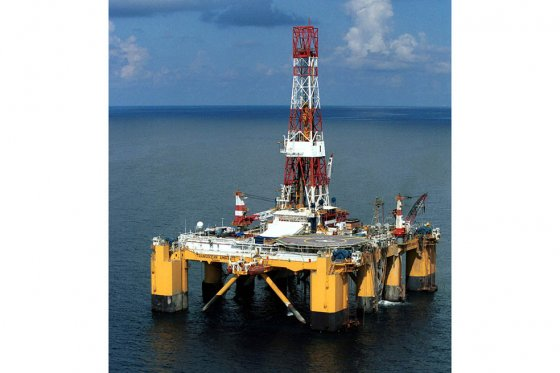 Esta es una de las plataformas que usa la empresa en el Golfo de México. / Bloomberg