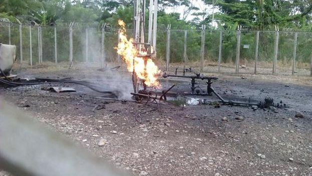 Imagen publicada por los trabajadores de Ecopetrol condenando el atentado del fin de semana. (@usofrenteobrero)