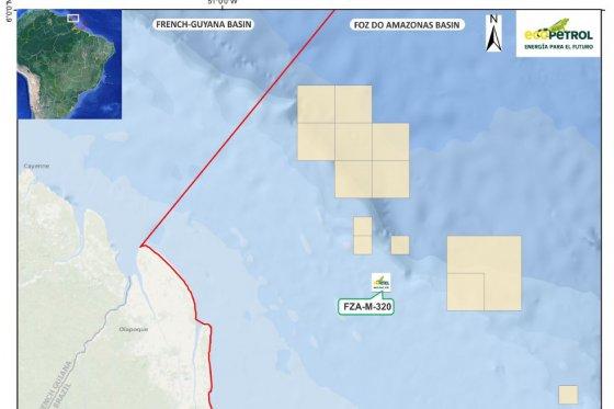 bicación del bloque petrolero donde operarán Ecopetrol y JX Nippon. /Cortesía