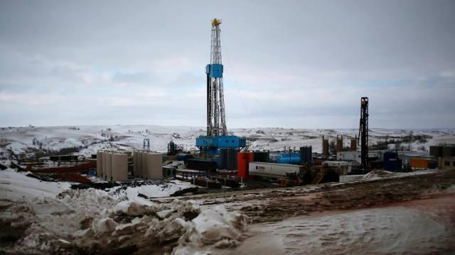Planta de petroleo en Dakota del Norte Estados Unidos.