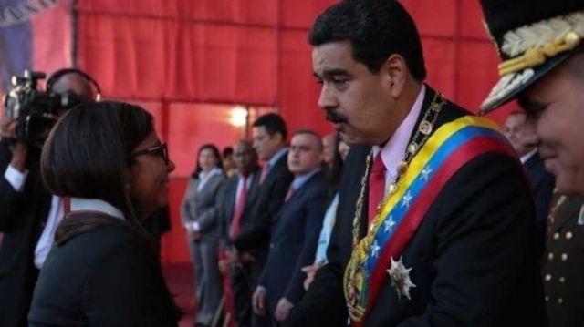 Maduro condecora a la canciller Rodríguez, tras su labor en la sesión de la OEA MADRID | EUROPA PRESS