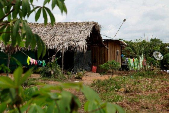 Una de las casas en Macaquiño, Vaupés.